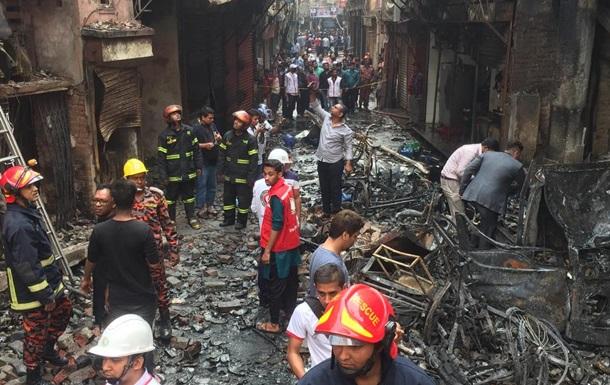 Количество жертв пожара в Бангладеш увеличилось до 110 человек