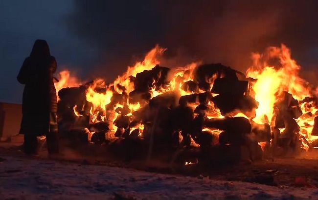 """В России  шаманы  сожгли пять верблюдов для """"укрепления государства"""" и """"восстановления культурных ценностей"""""""