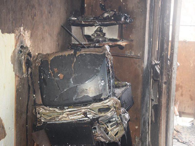 В мкр.Кульбакино в Николаеве в пятиэтажке сгорела квартира