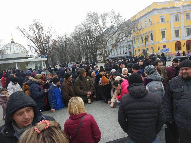 В Одессе неизвестные шутники собрали «проплаченный митинг», а сами на него не пришли