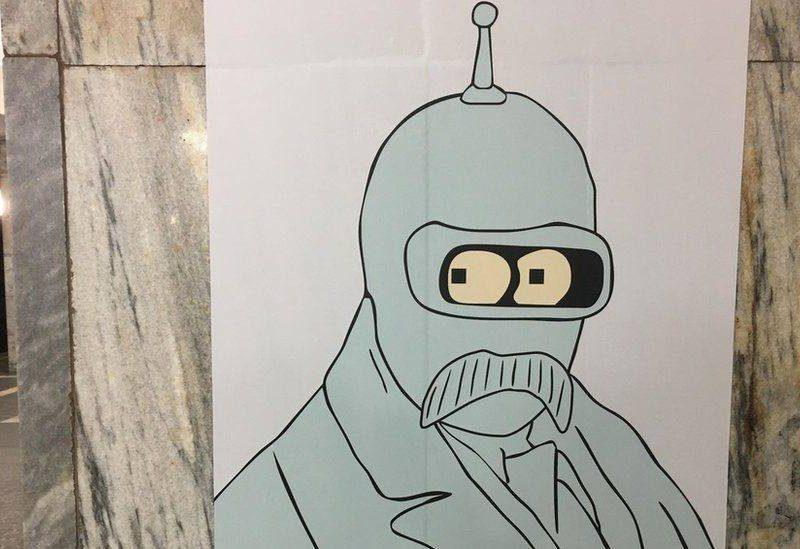 «Народные мстители» испортили выставку Шевченко в Киевском метро