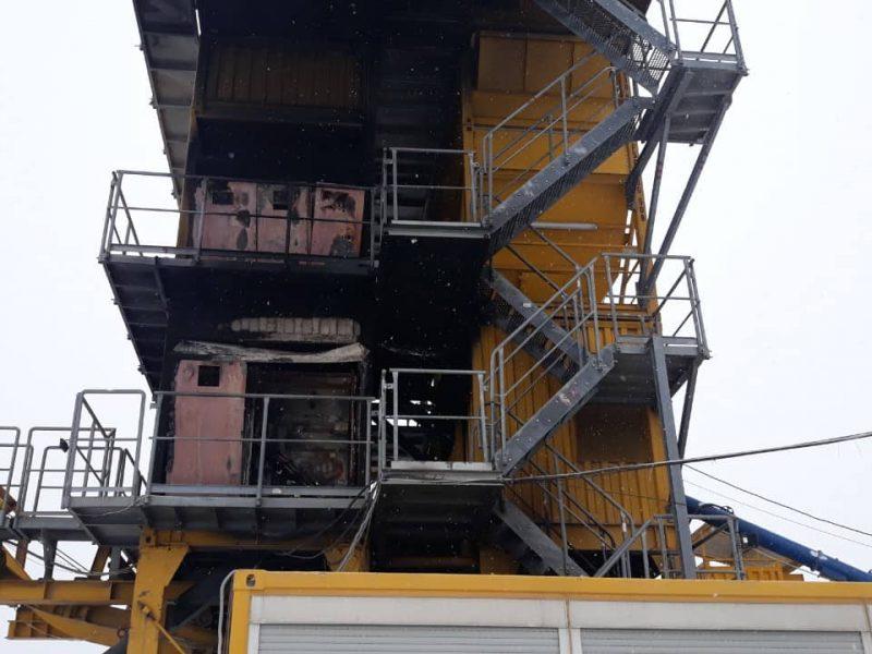 Кто?! В Новом Буге подожгли асфальтовый завод
