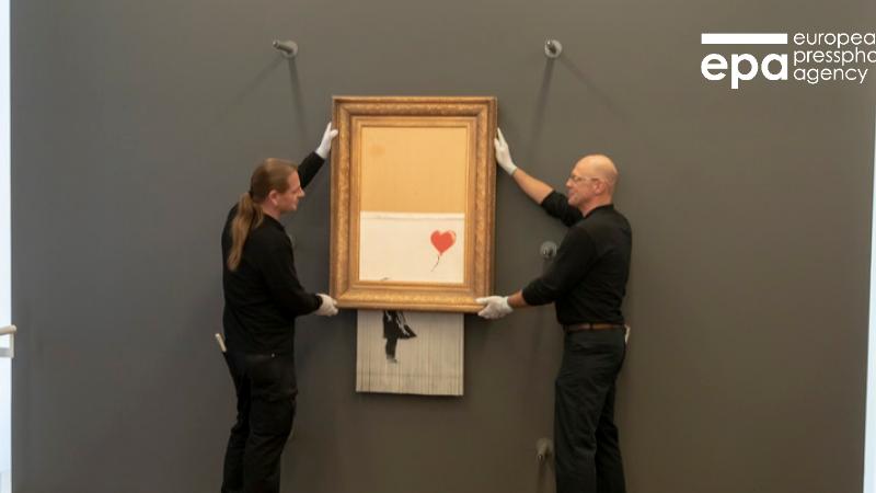 """""""Уничтоженная"""" картина Бэнкси впервые появилась на выставке"""