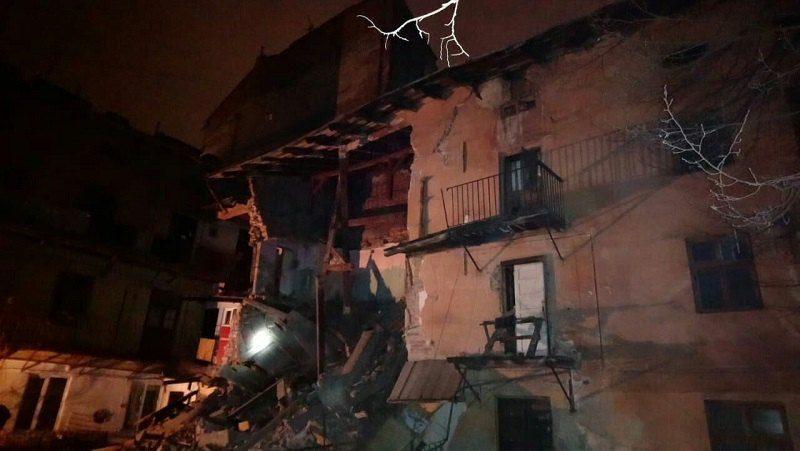 В центре Львова обвалился трехэтажный дом