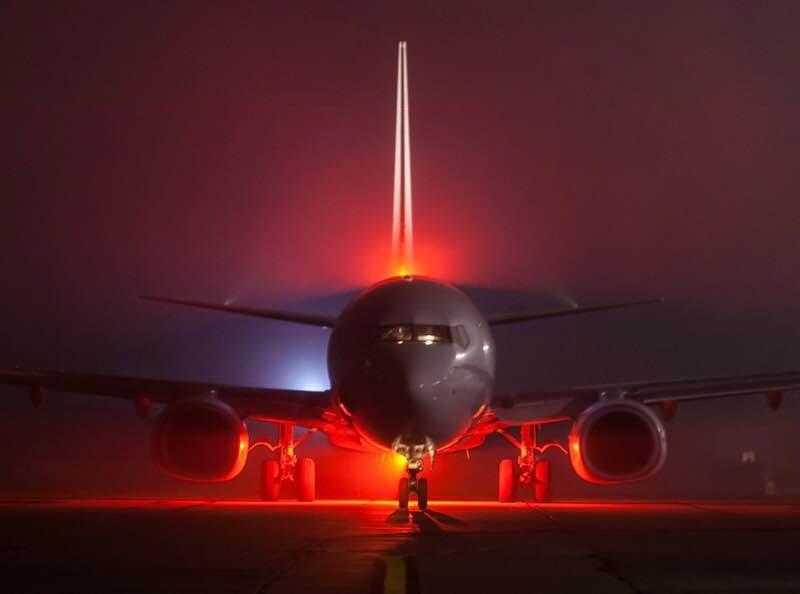 Николаевский аэропорт впервые принял и отправил ночной пассажирский рейс