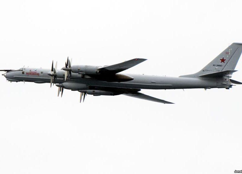 Над Донбассом замечен российский стратегический бомбардировщик
