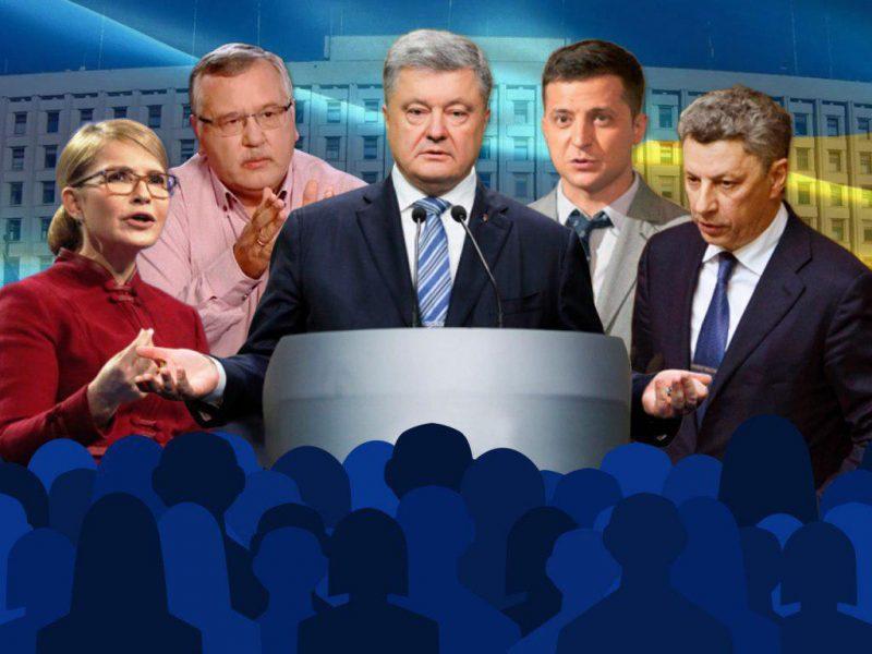 Шансы выйти во 2-ой тур имеют Зеленский, Порошенко и Тимошенко, любая из возможных пар разочарует половину избирателей – опрос центра Разумкова
