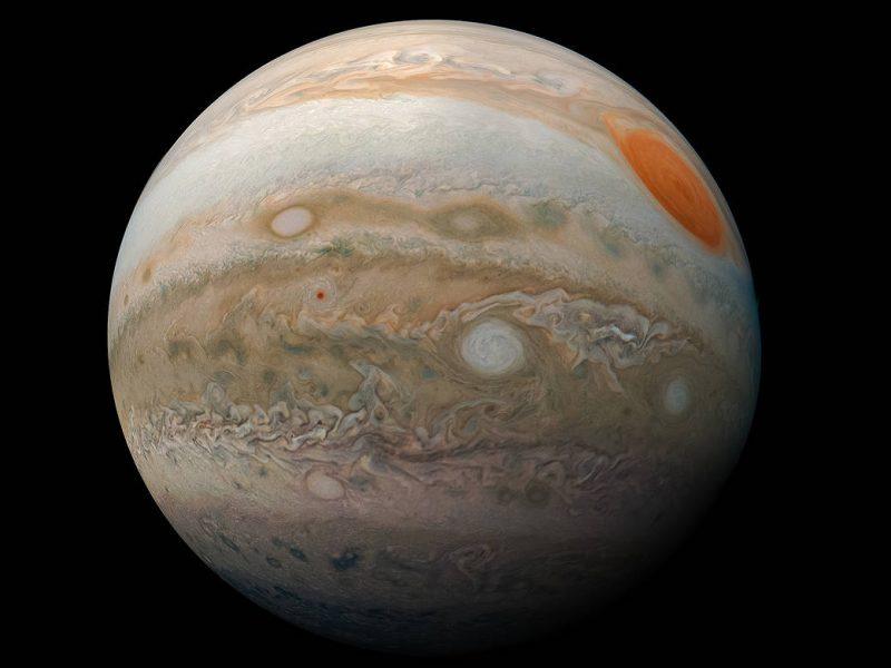 NASA обнародовало впечатляющее фото Юпитера