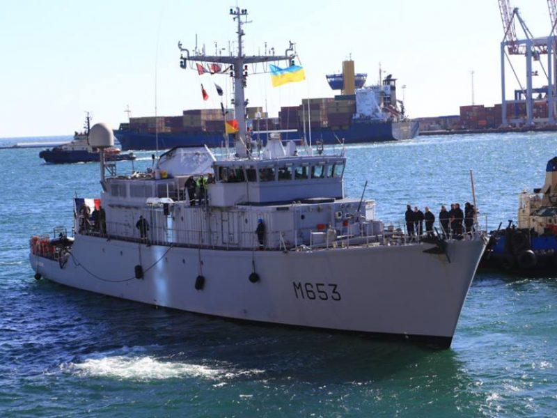 В Одесский порт зашел французский минный тральщик