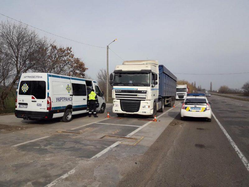 За неделю в Николаевской области доначислено за перевоз фурами свыше нормы более 9 тыс.евро