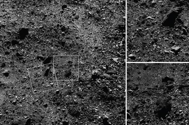 Зонд NASA передал на Землю новые снимки поверхности астероида Бенну