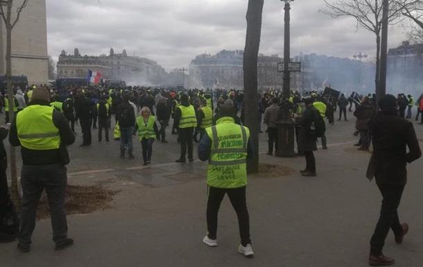 В Париже произошли стычки полиции и протестующих