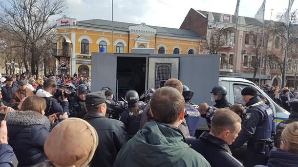 На митинге в Полтаве задержали активистов