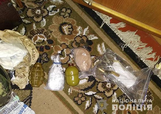На Николаевщине 27-летний мужчина хранил дома на подоконнике гранаты