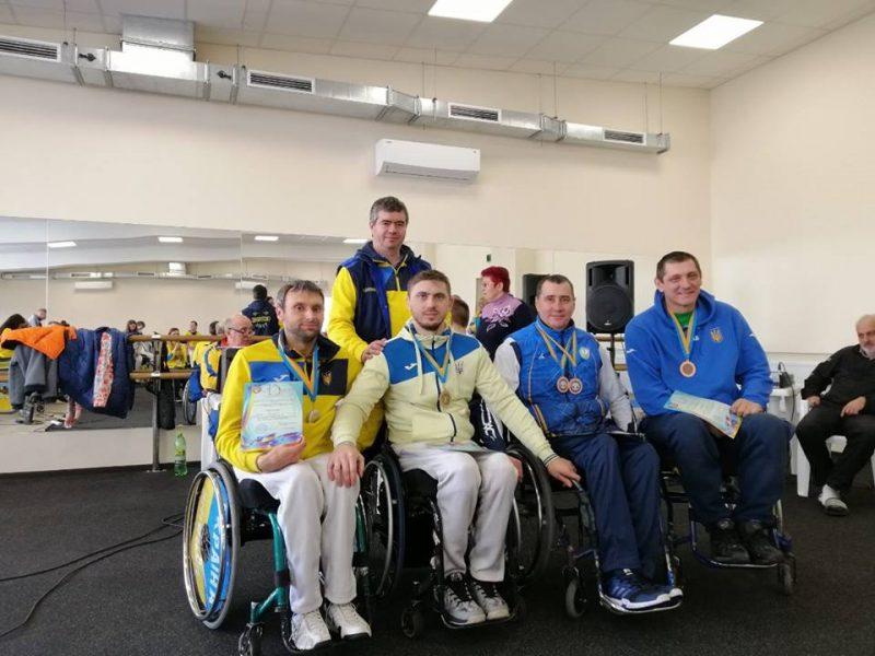 Николаевские спортсмены собрали урожай наград на Кубке Украины по фехтованию на колясках