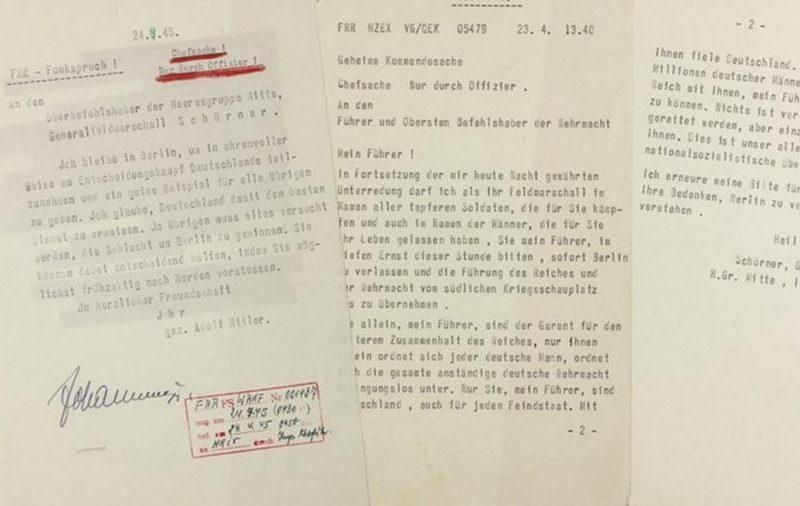 С аукциона продадут последнюю телеграмму Гитлера