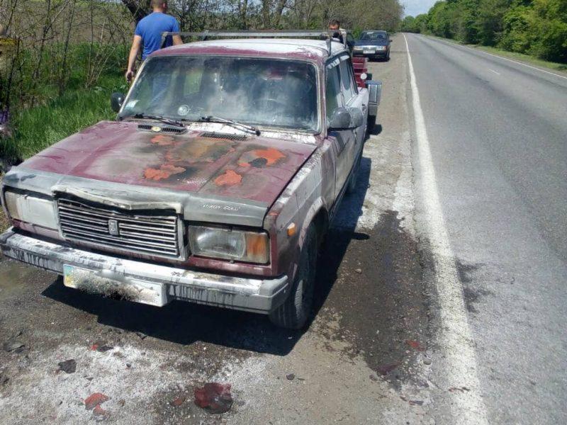 Вчера на Николаевщине тушили два горящих автомобиля