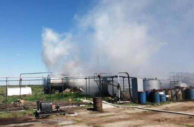 Пять человек пострадало при пожаре завода по переработке мазута на Николаевщине