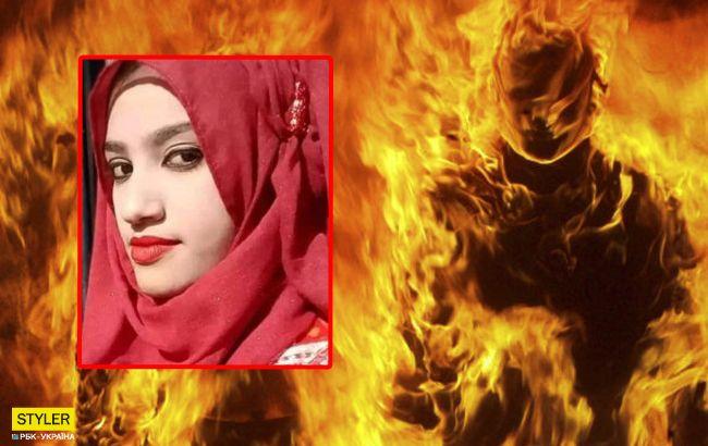 В Бангладеш сожгли школьницу, заявившую в полицию на своего директора за домогательства