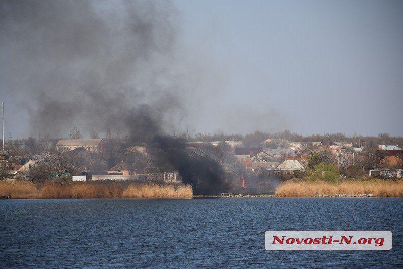 В Николаеве неизвестные снова подожгли камыш – на этот раз в Ингульском районе
