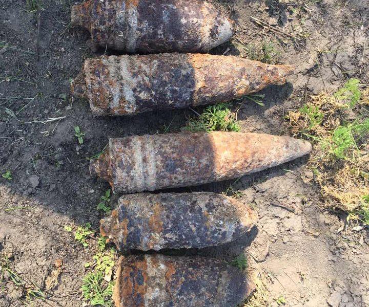 В Николаевской области обезвредили 5 артснарядов и мину
