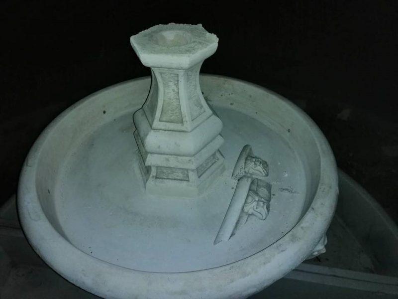 В селе Новобогдановка вандалы разрушили фонтан желаний
