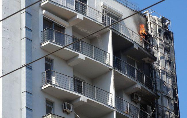 В Одессе горит жилая 12-этажка