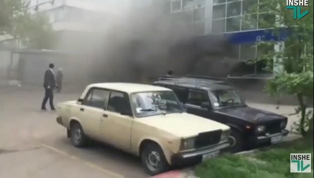 В Николаеве горит супермаркет «АТБ»