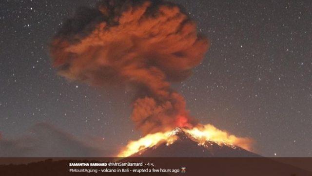 На Бали проснулся вулкан Агунг (ВИДЕО)