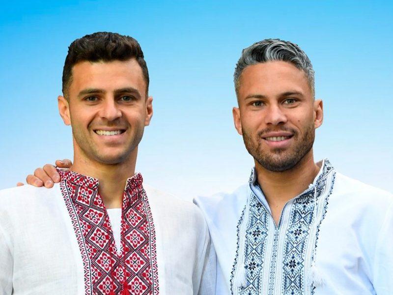 Украинские бразильцы Марлос и Мораес надели вышиванки (ФОТО)