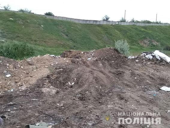 В Корабельном районе Николаева участковые оштрафовали водителя, который сбрасывал мусор в неустановленном месте