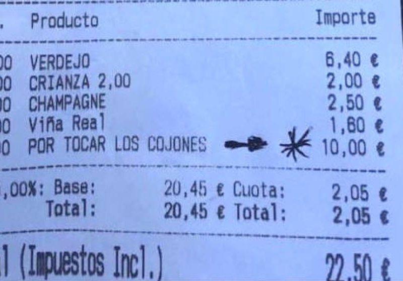 В Испании «доставучему» посетителю бара увеличили счет на 10 евро. И он заплатил (ФОТО)