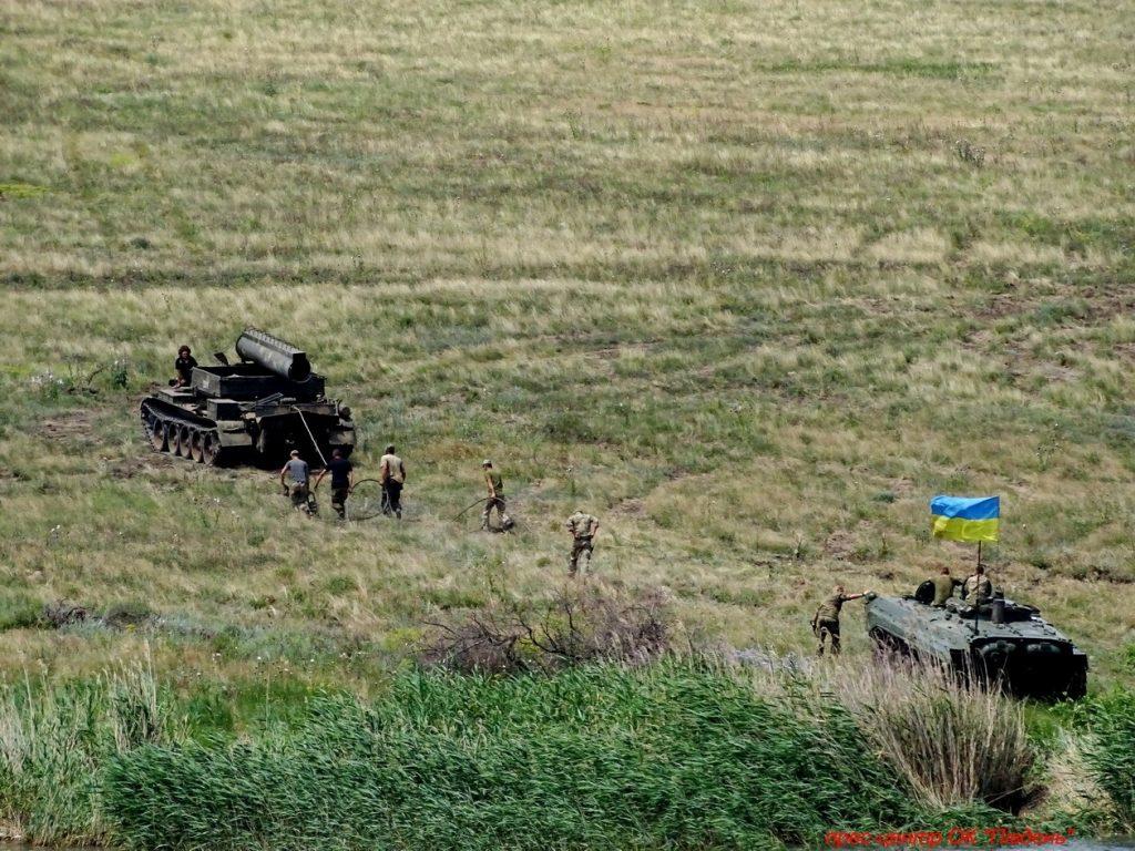 Под Николаевом прошли учения мотострелков (ФОТО) 29