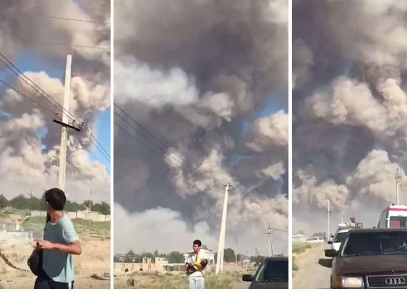 Взрывы на военном арсенале в Казахстане: объявлена чрезвычайная ситуация (ВИДЕО)