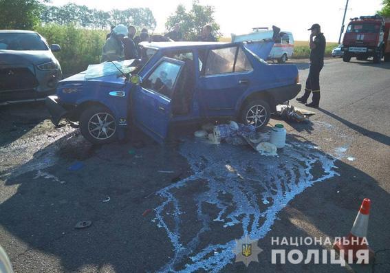Смертельное ДТП в Южноукраинске: пассажирка погибла, водители в больнице (ФОТО)