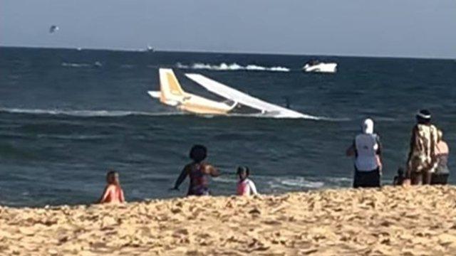В США самолет совершил аварийную посадку в Атлантический океан (ВИДЕО)