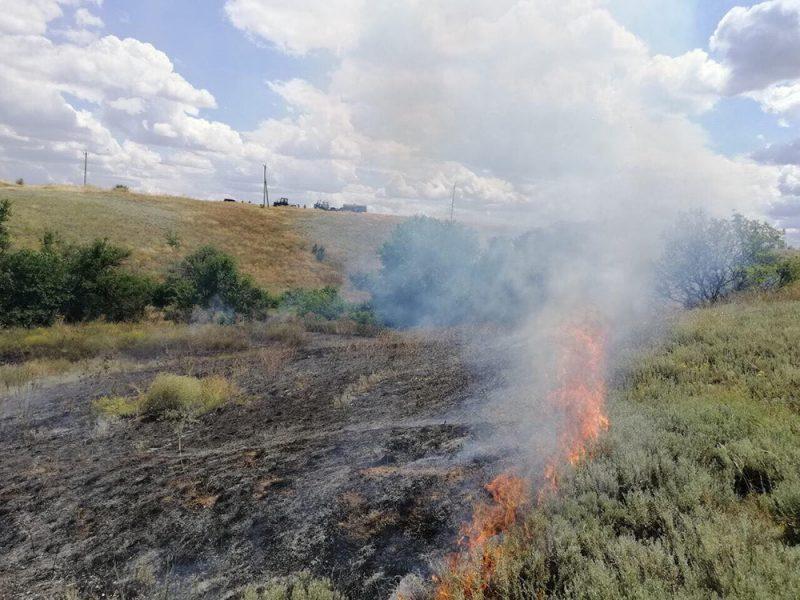 На Николаевщине опять тушили пожары в экосистемах – огонь прошел 15 га (ФОТО)