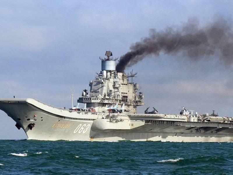 Пожар на крейсере Адмирал Кузнецов произошел из-за кучи мусора — Коммерсантъ