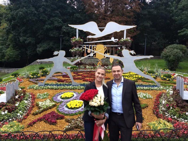 В Киеве открылась цветочная экспозиция, посвященная, в том числе, и николаевской саблистке Ольге Харлан (ФОТО)