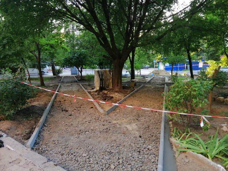 В Николаеве улицу Шоссейную устилают плиткой (ФОТО)