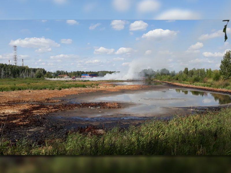 В РФ горит полигон химических отходов (ФОТО, ВИДЕО)