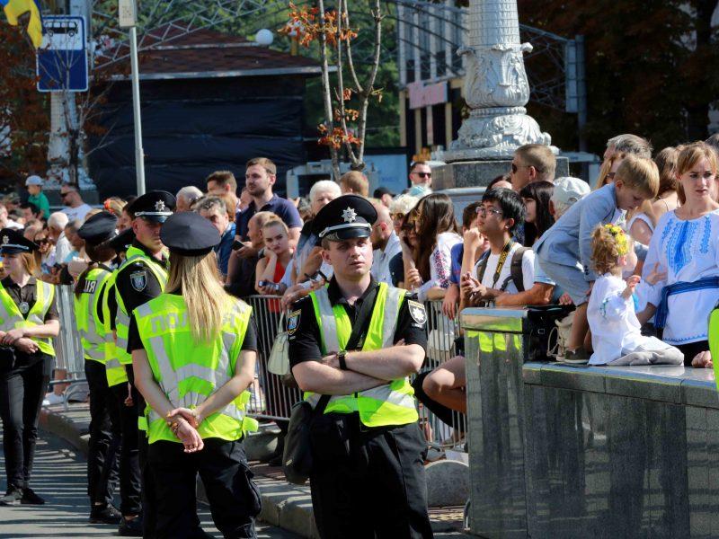 Во время мероприятий ко Дню Независимости в Киеве полиция задержала троих человек (ВИДЕО)