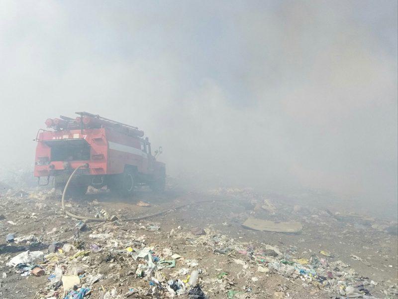 В Баштанке горит полигон ТБО (ФОТО)