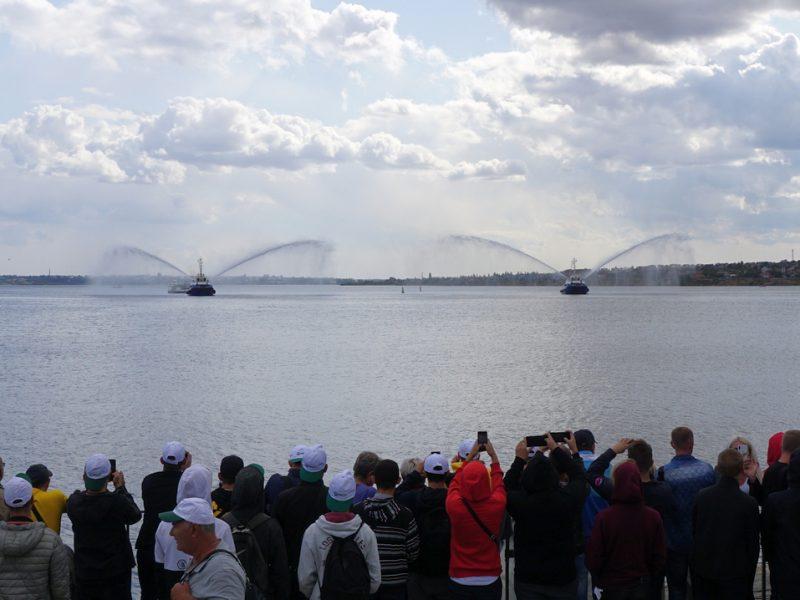 Парад флота компании «НИБУЛОН»: водное шоу как признание в любви…(ФОТО, ВИДЕО)