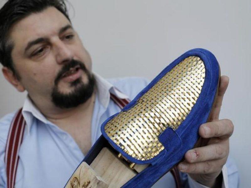 Во что обуваются шейхи и их жены? На выставке в Дубае самую дорогую обувь показал «золотой сапожник» (ФОТО)