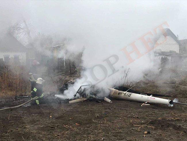 На Полтавщине упал вертолет, погиб экс-министр аграрной политики Кутовой (ФОТО)
