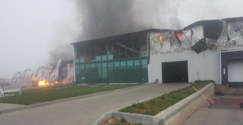 На Одесчине сгорел крупнейший чесночный завод Украины