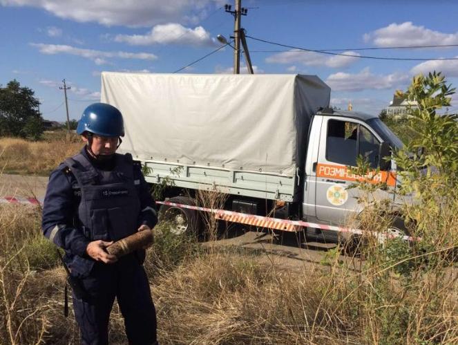 Николаевские пиротехники уничтожили 7 снарядов 1