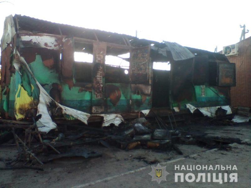 Неизвестные напали на кассира и сожгли зал игровых автоматов в Николаевской области
