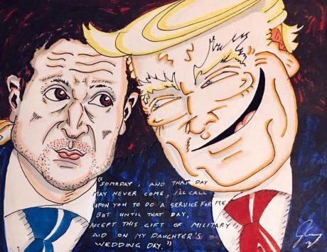Актер Джим Керри нарисовал яркую карикатуру на Трампа с Зеленским (ФОТО)